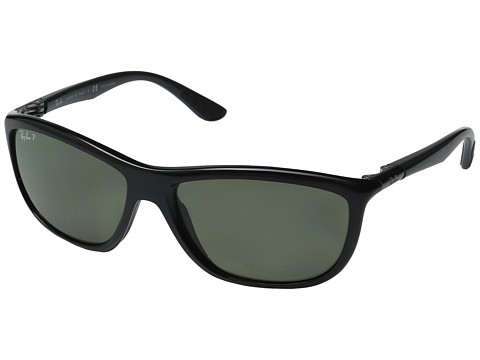 Ray-Ban RB8351 60mm Polarized - Black Frame/Dark Green Lens