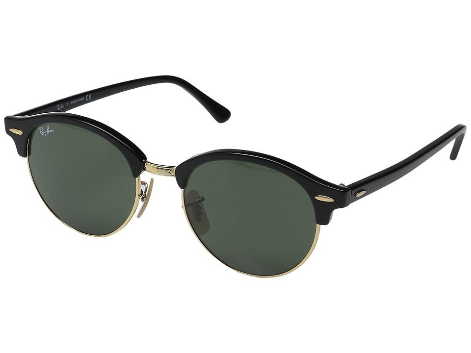 Ray-Ban RB4246 51mm (Black Frame/Green Lens) Fashion Sunglasses