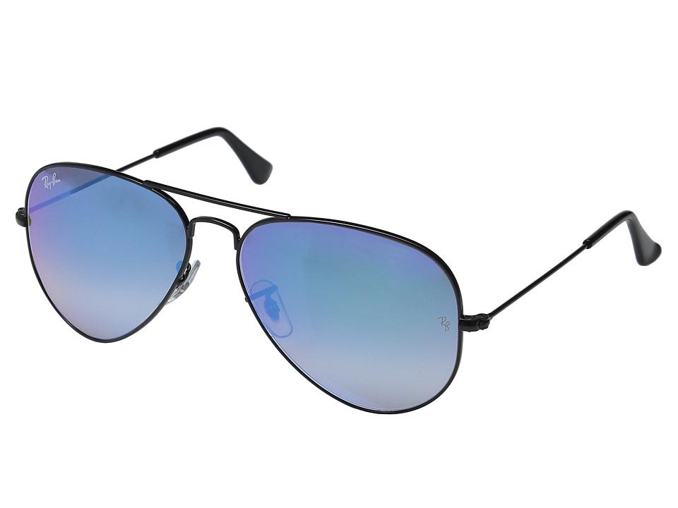 Ray-Ban RB3025 Original Aviator 58mm (Black Frame/Mirror Gradient Blue Lens) Metal Frame Fashion Sunglasses