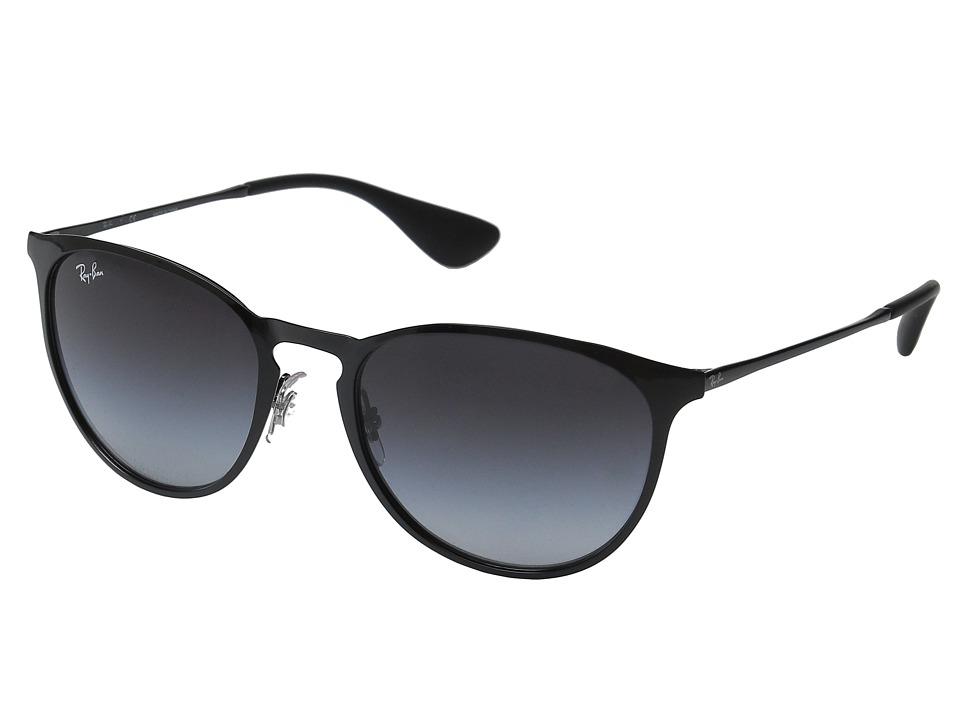 Ray-Ban Erika Metal RB3539 54mm (Black Frame/Grey Gradient Lens) Fashion Sunglasses