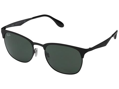 Ray-Ban RB3538 53mm - Top Matte Black on Shiny Black Frame/Dark Green Lens