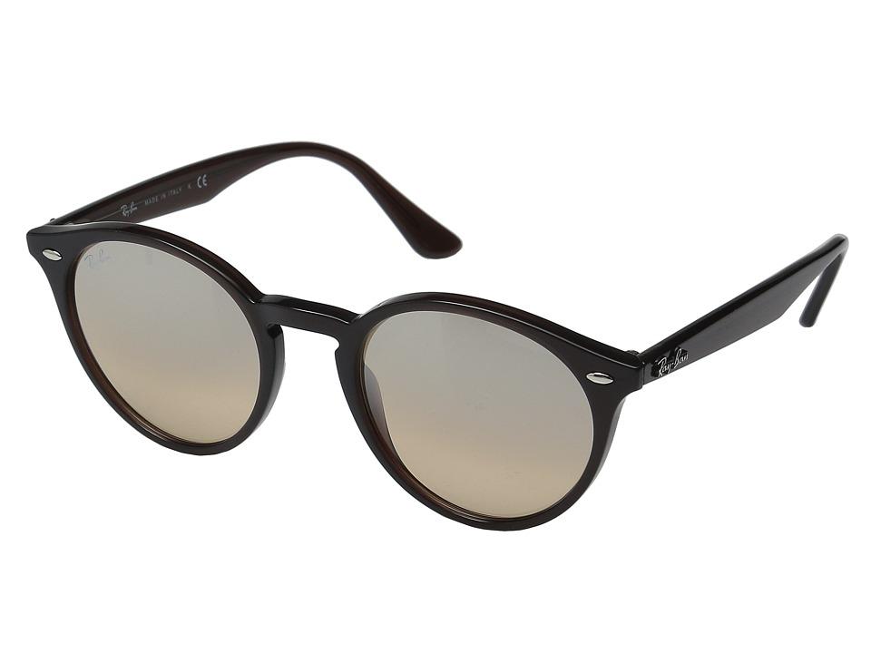 Ray-Ban RB2180 51mm (Opal Brown Frame/Brown Mirror Silver Gradient Lens) Fashion Sunglasses