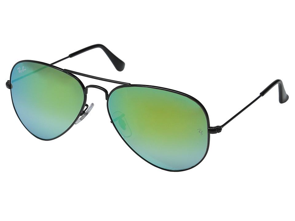 Ray-Ban RB3025 Original Aviator 58mm (Black Frame/Mirror Gradient Green Lens) Metal Frame Fashion Sunglasses