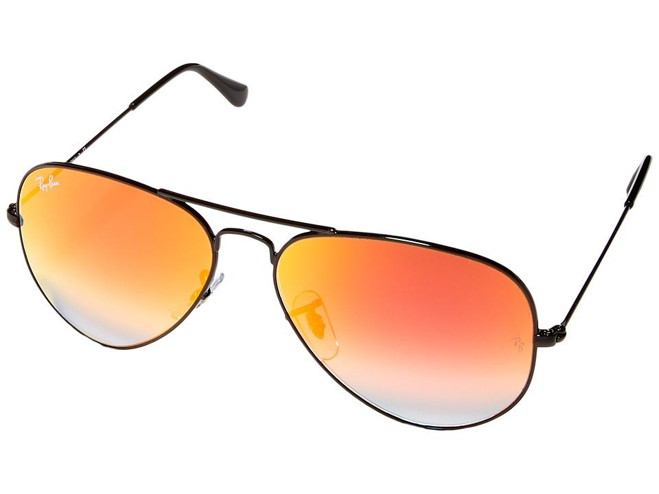 Ray-Ban RB3025 Original Aviator 58mm (Black Frame/Mirror Gradient Red Lens) Metal Frame Fashion Sunglasses