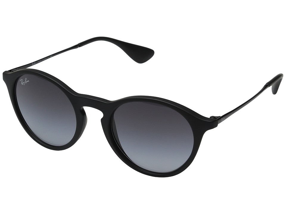 Ray-Ban RB4243 49mm (Rubber Black Frame/Light Grey Gradient Lens) Fashion Sunglasses