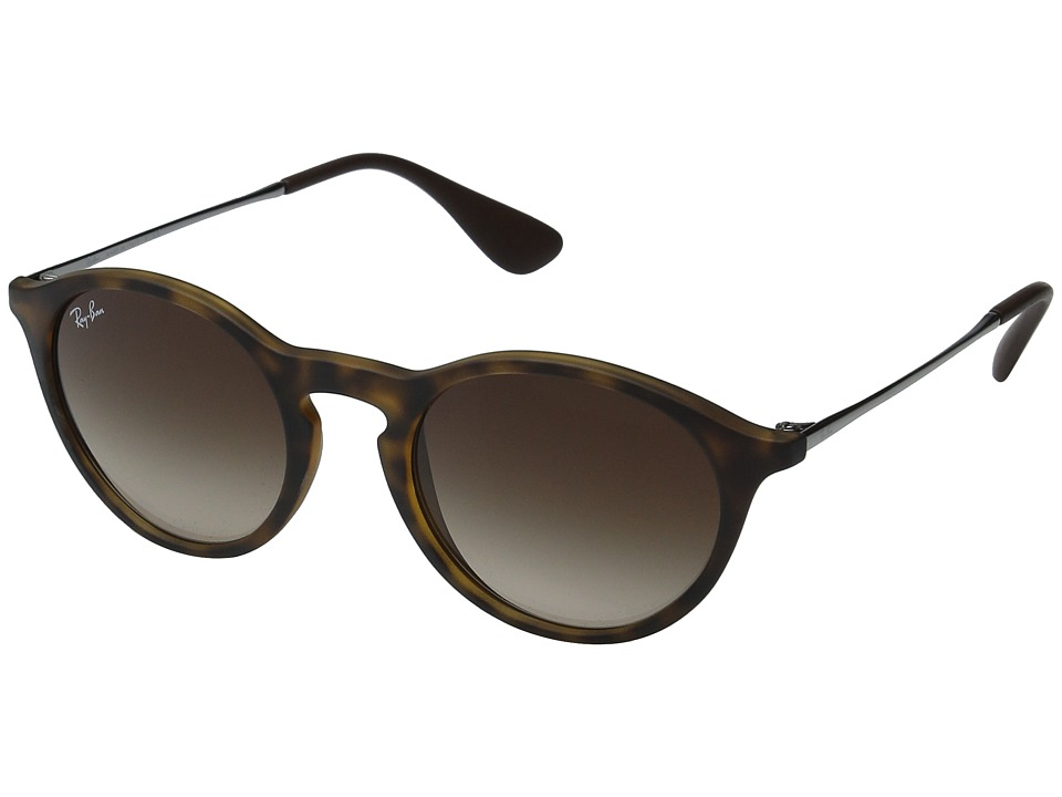 Ray-Ban RB4243 49mm (Rubber Havana Frame/Light Grey Gradient Lens) Fashion Sunglasses