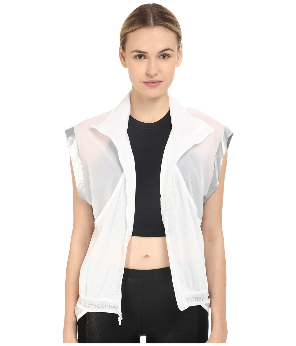 adidas by Stella McCartney Adizero Gilet AI8474 White Womens Clothing