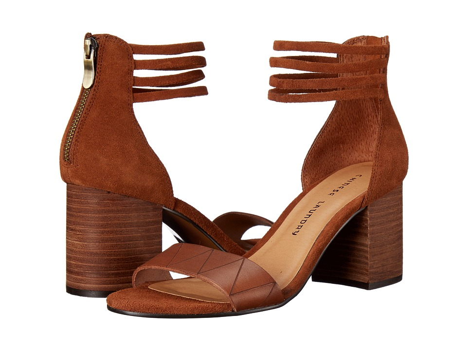 Chinese Laundry Rylan Cinnamon Split Suede High Heels