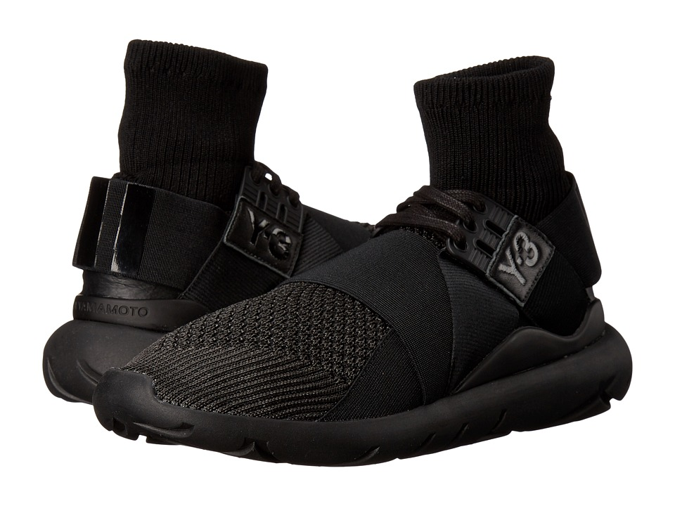 adidas Y 3 by Yohji Yamamoto Qasa Elle Lace Knit Core Black/Core Black/Core Black Womens Lace up casual Shoes