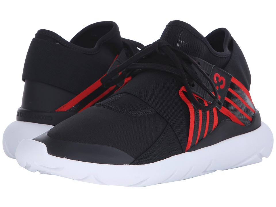 adidas Y 3 by Yohji Yamamoto Qasa Elle Lace Core Black/Scarlet/Core Black Womens Lace up casual Shoes