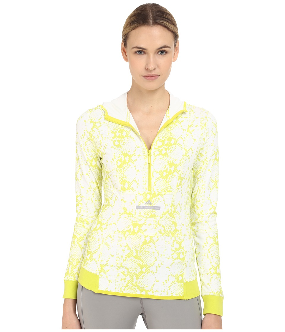 adidas by Stella McCartney Essentials Hooded Long Sleeve AI8488 White/Lab Lime F12 Womens Clothing