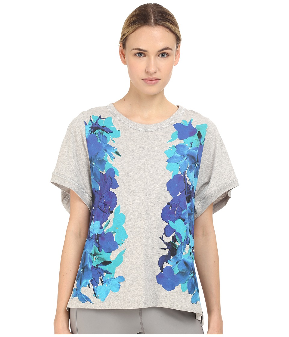 adidas by Stella McCartney Essentials Blossom Tee AI8907 Pearl Grey Heather/Smoked Womens T Shirt