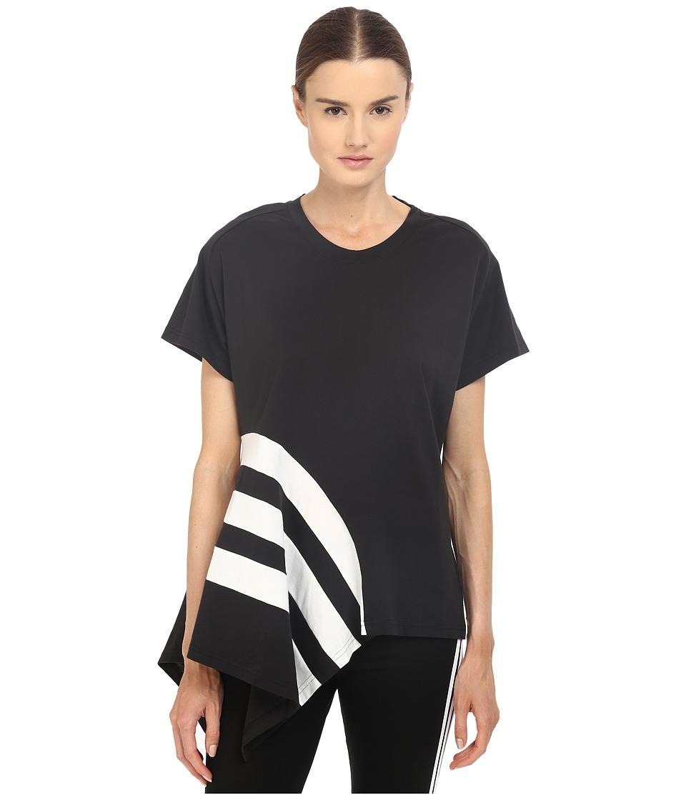 adidas Y-3 by Yohji Yamamoto - Stripe Tee (Black) Women