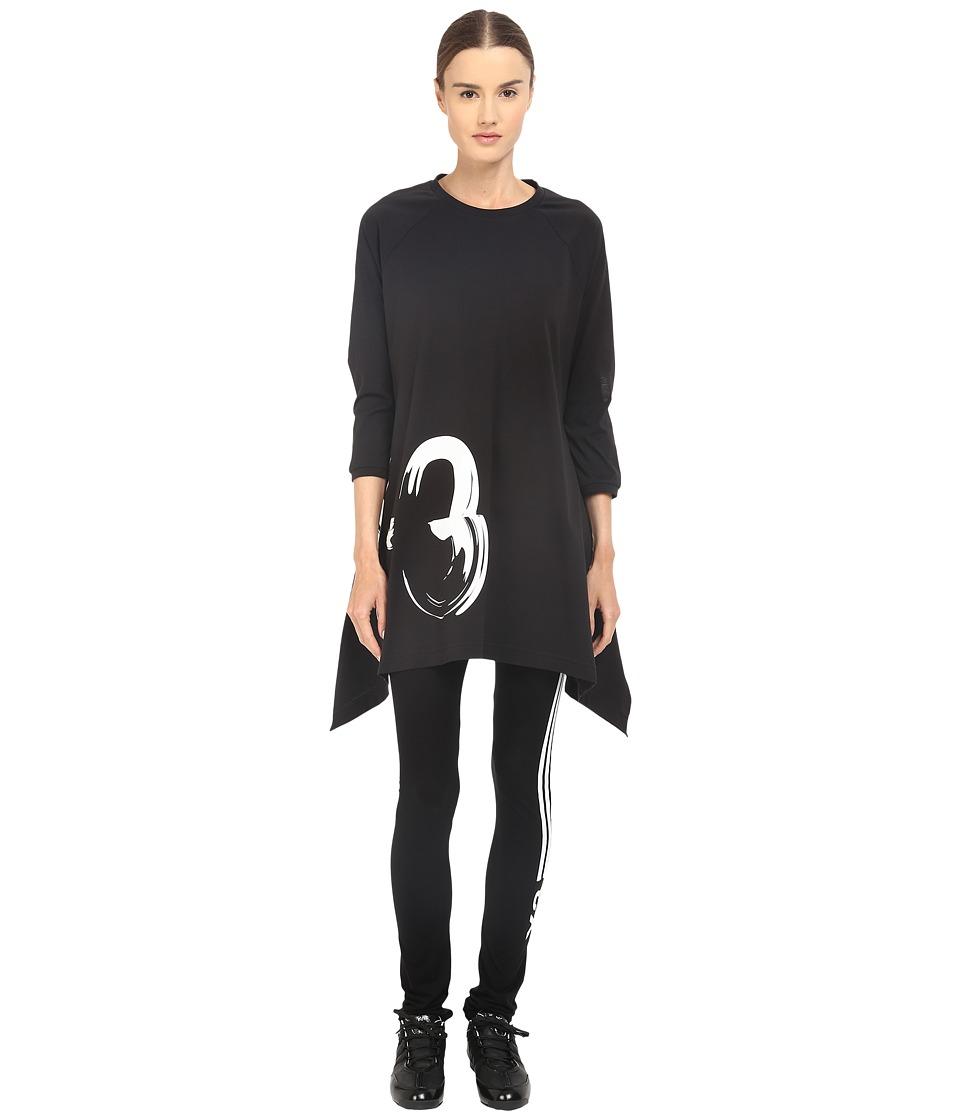 adidas Y 3 by Yohji Yamamoto Graphic Tunic Black Womens Blouse