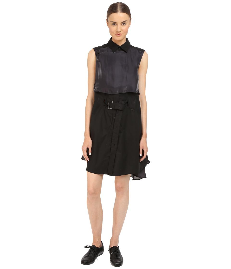 adidas Y 3 by Yohji Yamamoto Shirtdress AP4133 Black Womens Dress