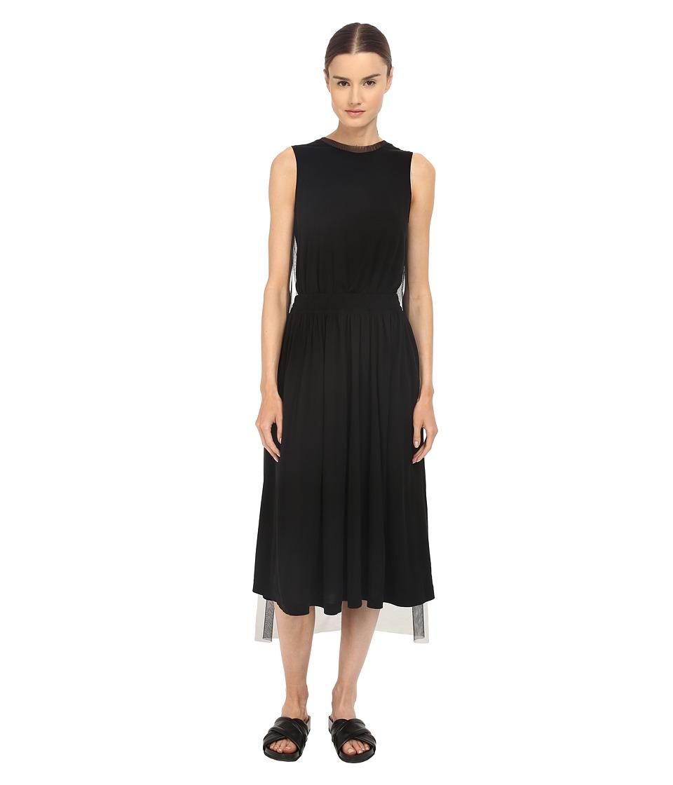 adidas Y 3 by Yohji Yamamoto Gauze Dress Black Womens Dress