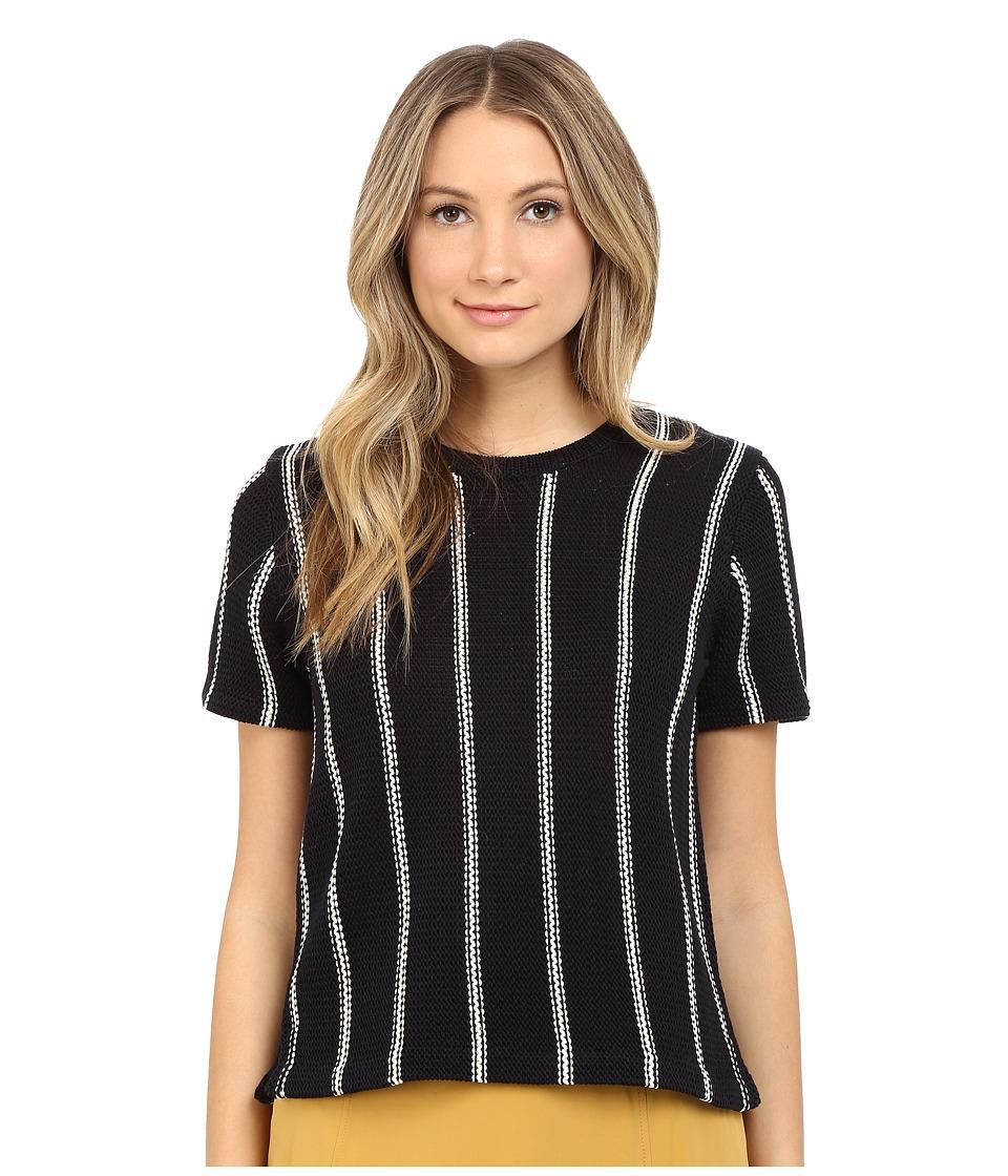 Theory Emmeris Ibisco Tee Night Navy Stripe Womens Sweater