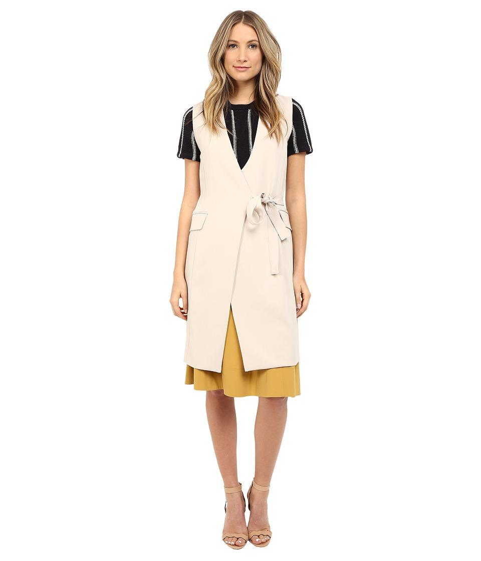 Theory Livwilth Admiral Crepe Vest Classic Khaki Womens Vest