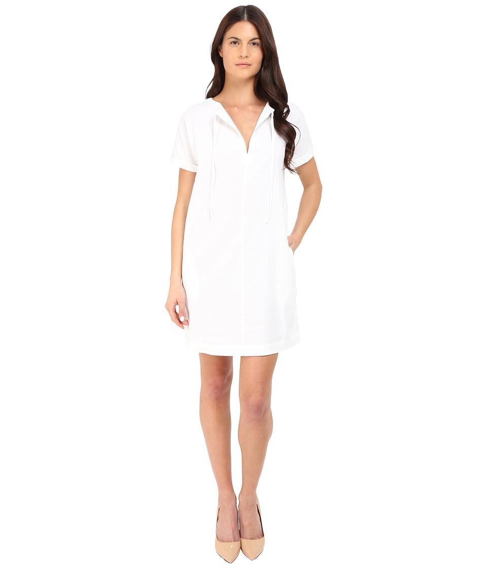 Theory Alisia Crunch Wash Dress White Womens Dress