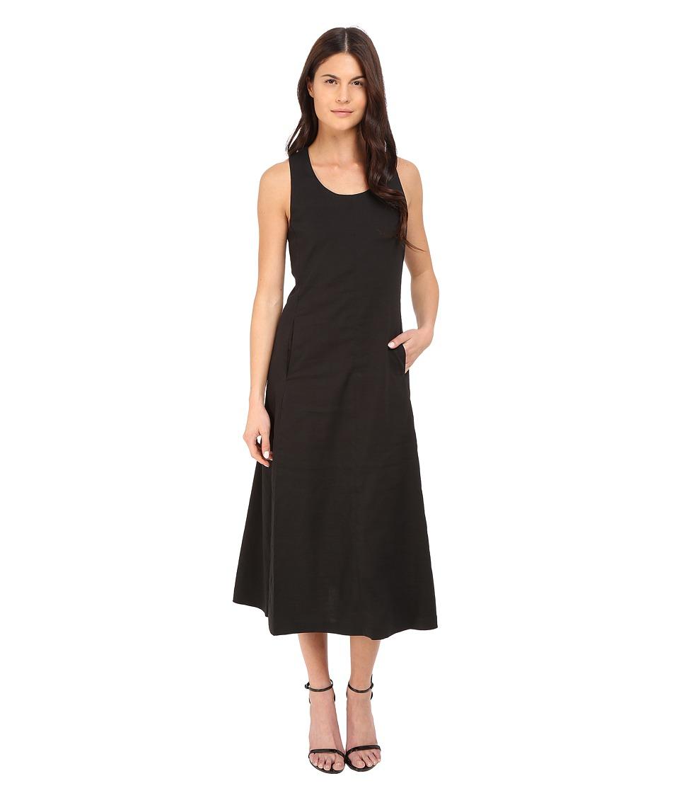 Theory Vlorine Crunch Wash Dress Black Womens Dress
