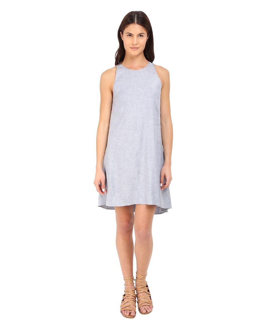 Theory Adlerdale Tierra Wash Dress Light Denim Womens Dress