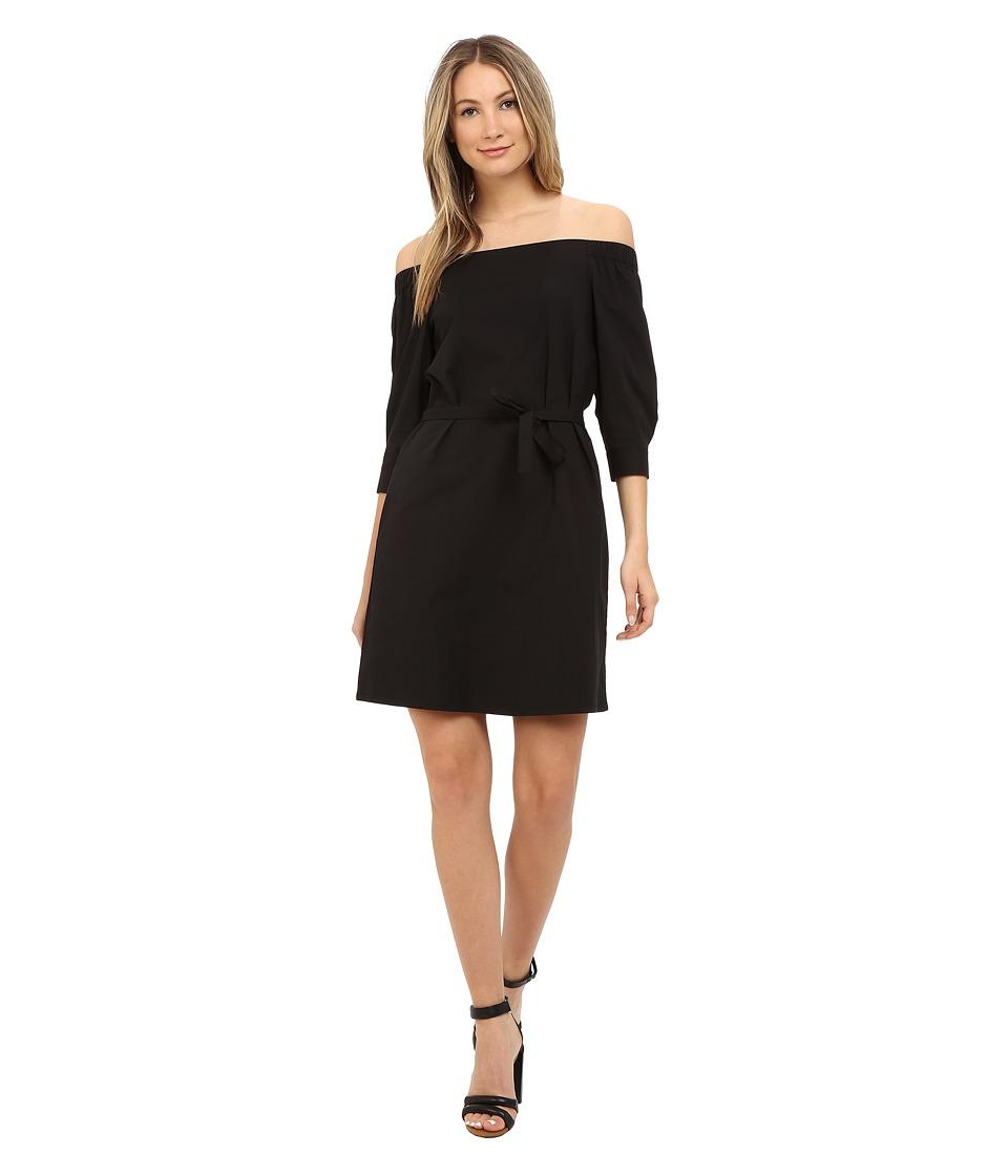 Theory Zizinna Light Poplin Dress Black Womens Dress