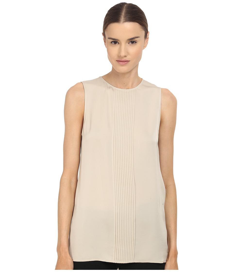 Theory Yinga Modern Dress Classic Khaki Womens Blouse