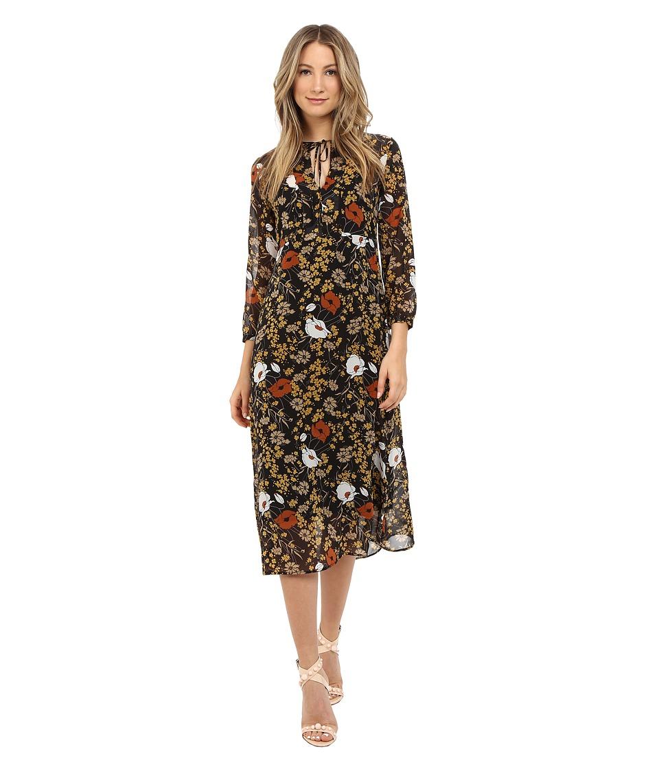 Theory Jiltrey Dress Marigold Print Womens Dress