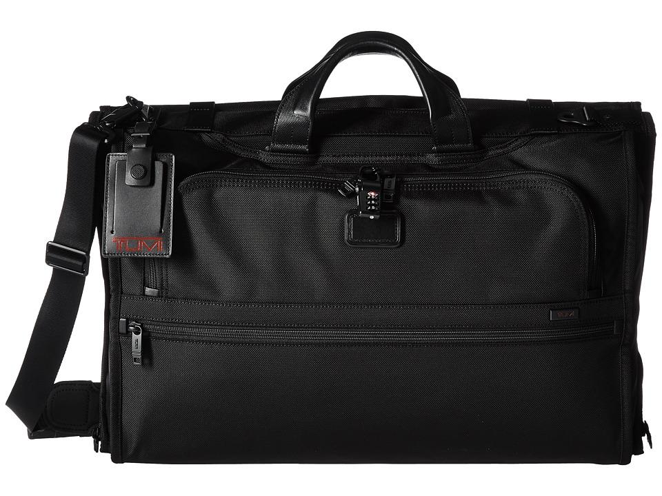 TUMI Alpha 2 - Tri-Fold Carry-On Garment Bag (Black) Carr...