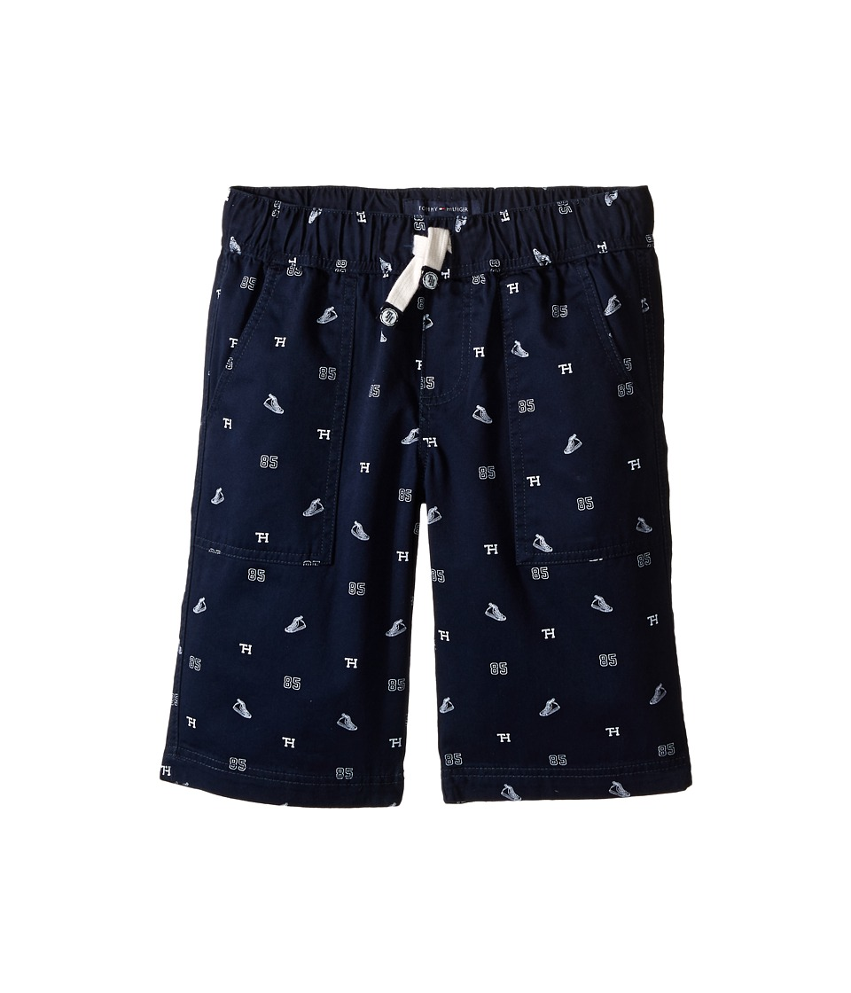 Tommy Hilfiger Kids High Top Schiffli Jogger Shorts Big Kids Swim Navy Boys Shorts
