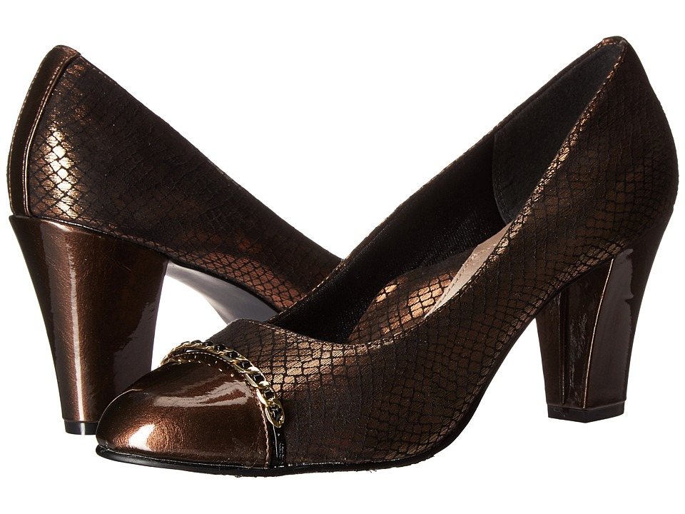 Soft Style Calina (Bronze Snake/Mid Brown Pearlized Patent) Women