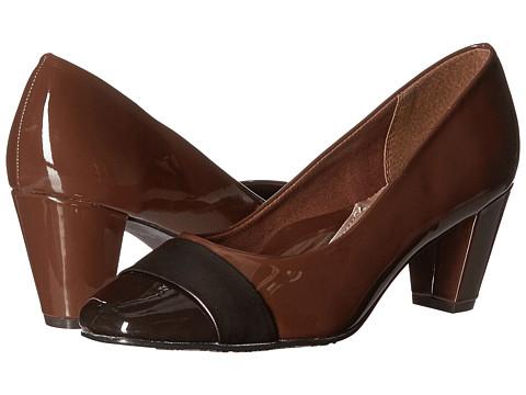 Soft Style Mabry - Mid Brown Patent/Gunmetal Vitello