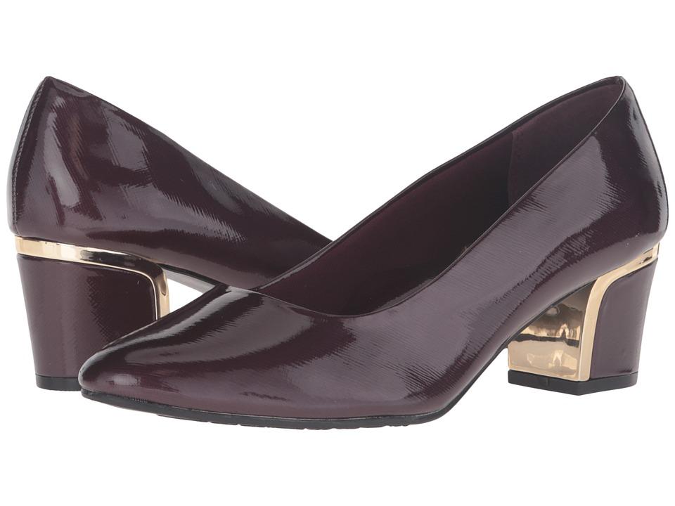 Soft Style Deanna (Sassafras Crosshatch Patent/Gold Heel) Women