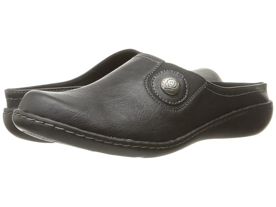 Soft Style Jamila (Black Leather) Slip-On Shoes