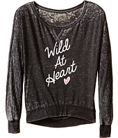 The Original Retro Brand Kids - Burnout Crew Wild At Heart Long Sleeve Pullover (Big Kids)
