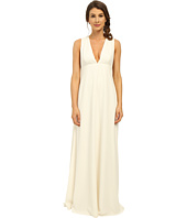 JILL JILL STUART - Sleeveless Deep-V Cape Gown
