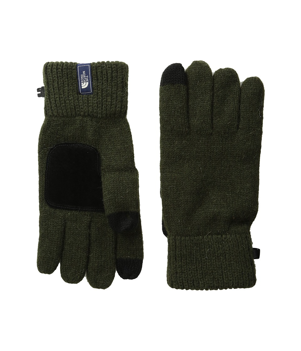 The North Face Salty Dog Etip Glove (Rosin Green) Extreme Cold Weather Gloves