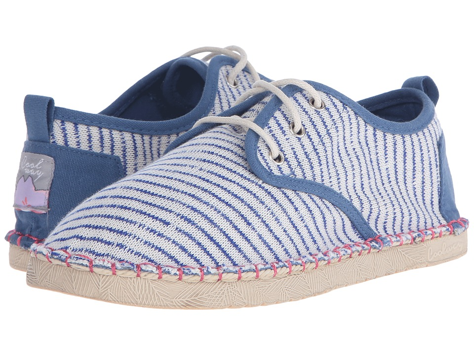 Coolway Trebol Stripes Womens Slip on Shoes