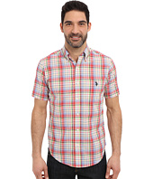 U.S. POLO ASSN. - Button Down Slim Fit Madras Plaid Shirt