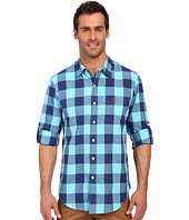 U.S. POLO ASSN. - Long Sleeve Slim Fit Madras Plaid Shirt