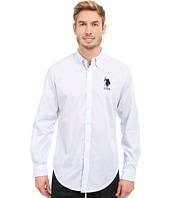 U.S. POLO ASSN. - Slim Fit Striped Oxford Button Down Shirt