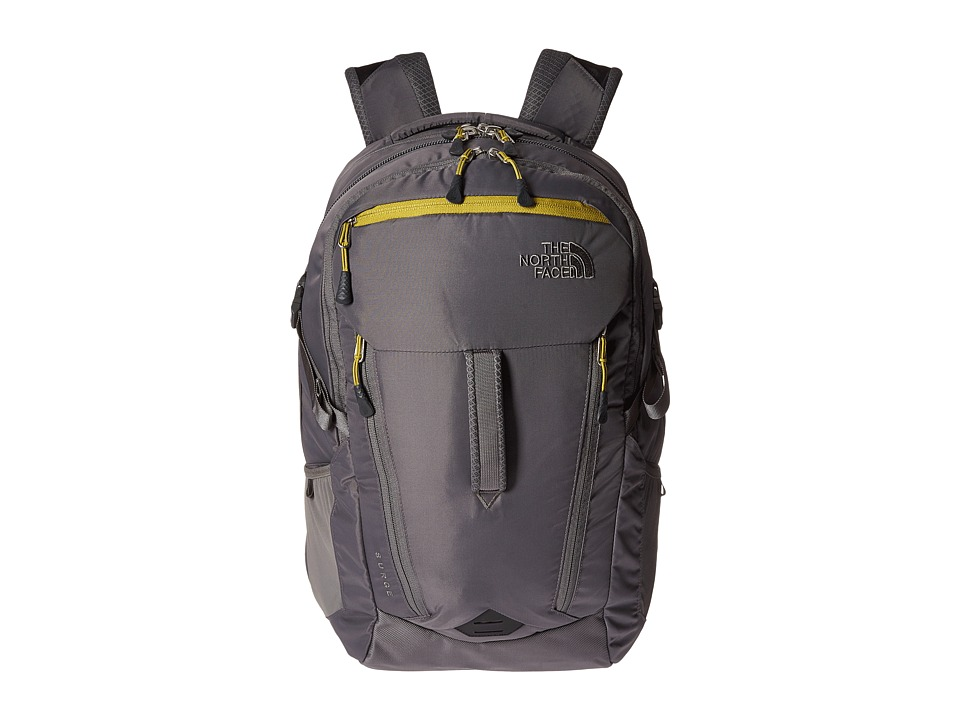 North Face Surge (Fusebox Grey/Lemongrass Green) Backpack...