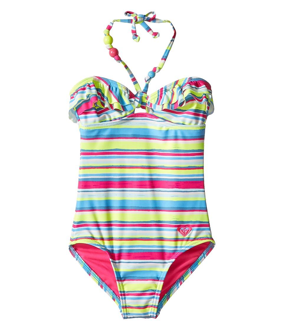 Roxy Kids Island Tiles One Piece Big Kids Sunny Lime Girls Swimsuits One Piece
