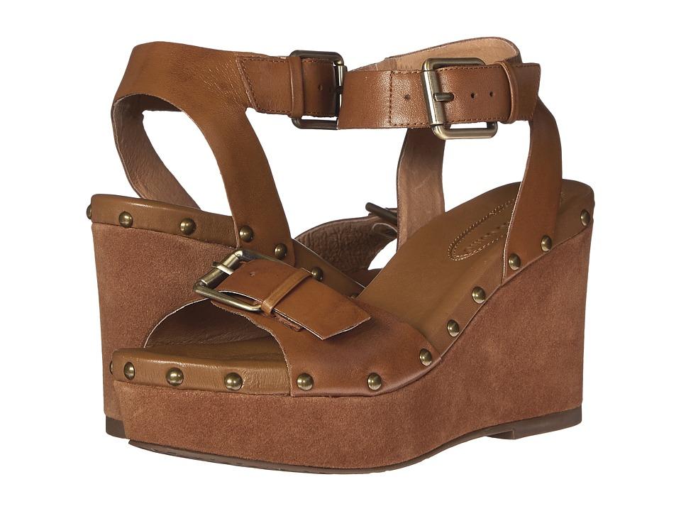Corso Como Deli Tan Leather/Suede Womens Wedge Shoes