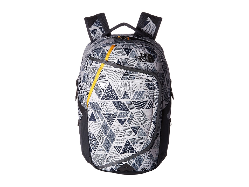 The North Face - Hot Shot Backpack (Trickonometry Print/Radiant Yellow) Backpack Bags