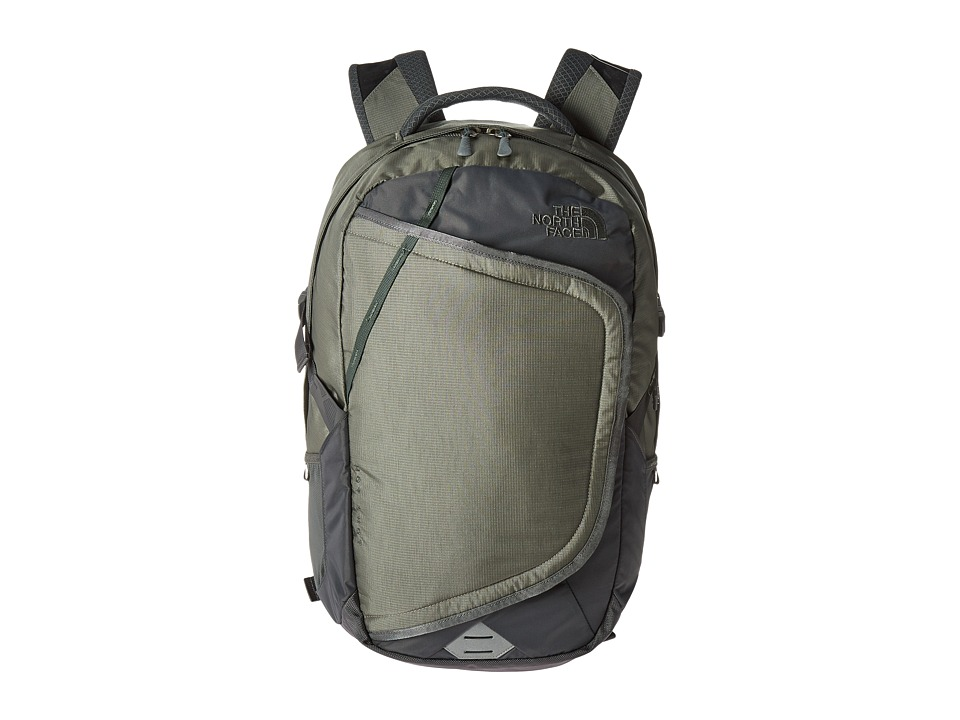 The North Face - Hot Shot Backpack (Moon Mist Grey/Duck Green) Backpack Bags