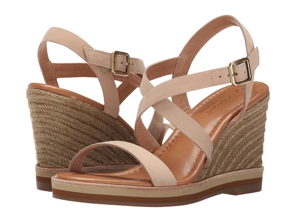 Corso Como Gladis Nude Nubuck Womens Wedge Shoes