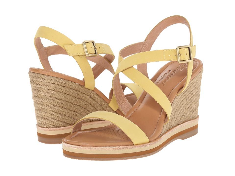 Corso Como Gladis Light Yellow Nubuck Womens Wedge Shoes