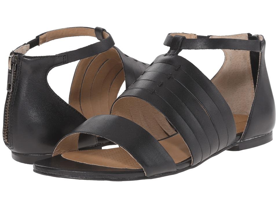 Corso Como Sprint Black Leather Womens Sandals