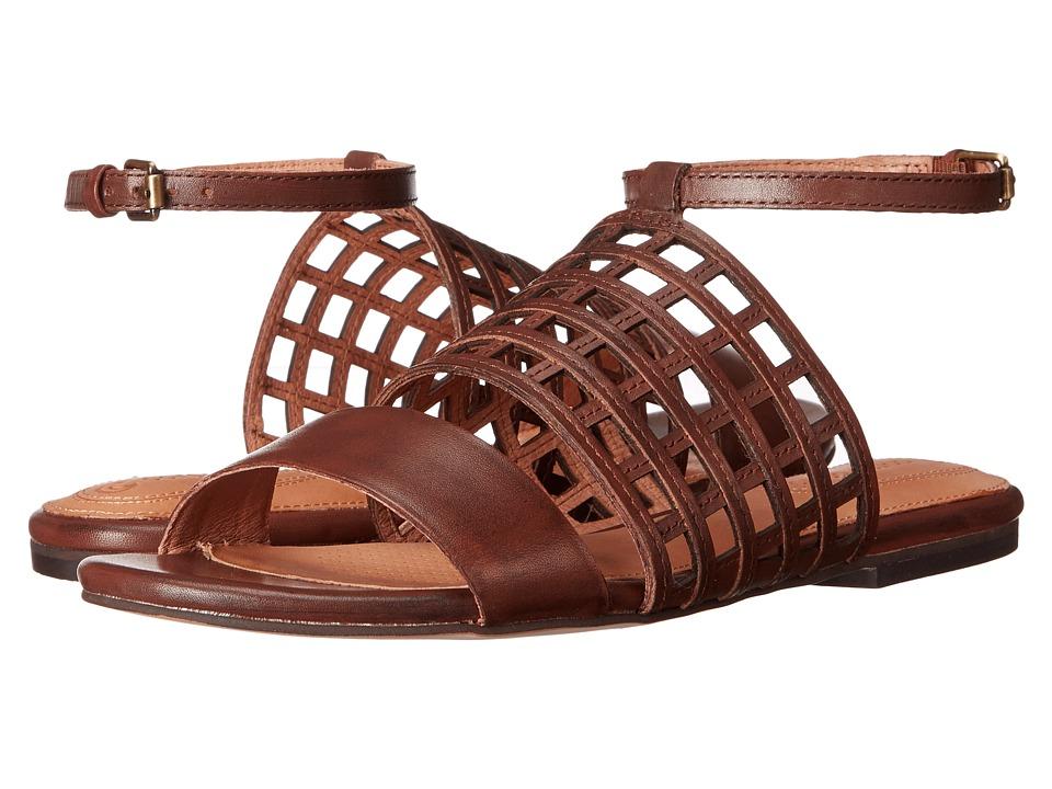 Corso Como Summa Mahogany Leather Womens Sandals